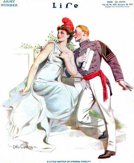 Otho Cushing Life Humor Magazine 1913-11-20 Copyright | Life Magazine Graphic Art Covers 1891-1936