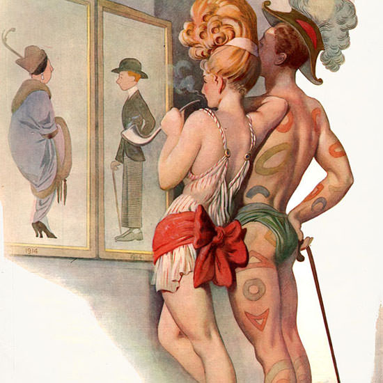 Otho Cushing Life Magazine Werent Funny 1914-12-10 Copyright crop | Best of 1891-1919 Ad and Cover Art