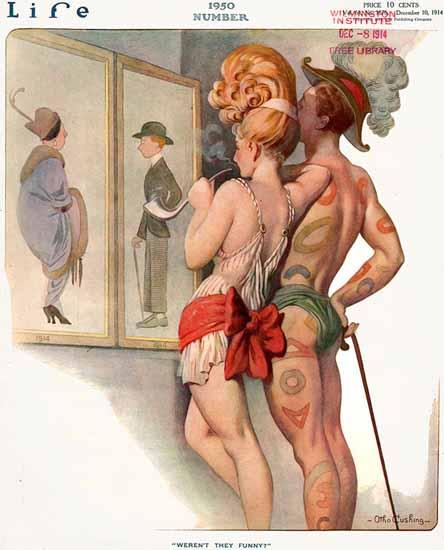 Otho Cushing Life Magazine Werent they Funny 1914-12-10 Copyright | Life Magazine Graphic Art Covers 1891-1936