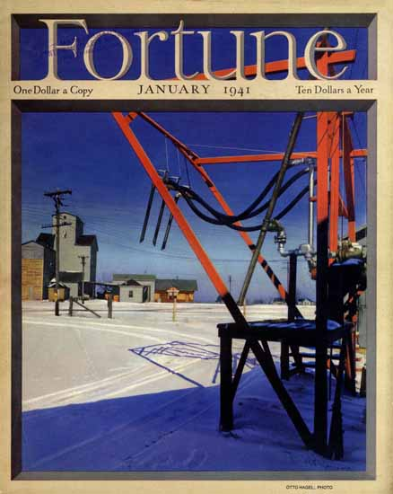 Otto Hagel Fortune Magazine Janaury 1941 Copyright | Fortune Magazine Graphic Art Covers 1930-1959