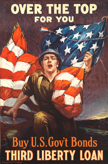 Over The Top For You Buy US Third Liberty | Vintage War Propaganda Posters 1891-1970