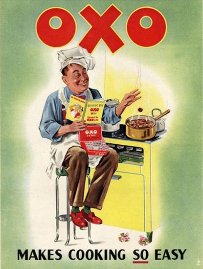 Oxo Stock Cubes Makes Cooking So Easy | Vintage Ad and Cover Art 1891-1970