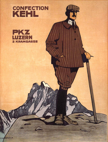 PKZ Luzern Confection Kehl Switzerland Schweiz | Vintage Ad and Cover Art 1891-1970