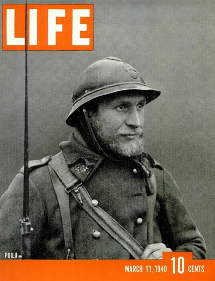 POILU 11 Mar 1940 Copyright Life Magazine | Life Magazine BW Photo Covers 1936-1970
