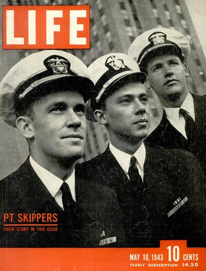 PT Skippers 10 May 1943 Copyright Life Magazine | Life Magazine BW Photo Covers 1936-1970