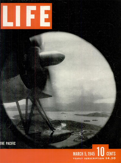 Pacific War 5 Mar 1945 Copyright Life Magazine | Life Magazine BW Photo Covers 1936-1970
