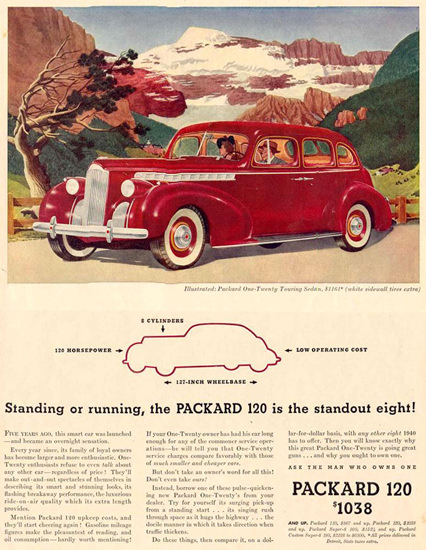 Packard 120 Touring Sedan 1940 | Vintage Cars 1891-1970