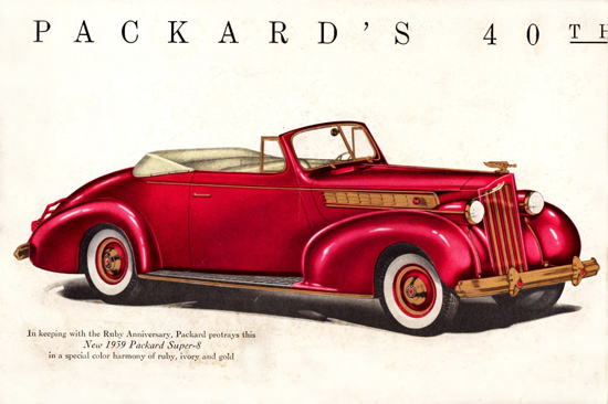 Packard 40th Anniversary Super 8 Conv 1939 | Vintage Cars 1891-1970