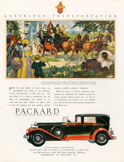 Packard Automobile Coach | Vintage Cars 1891-1970