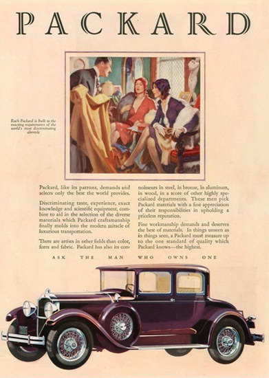 Packard Automobile Fashion | Vintage Cars 1891-1970