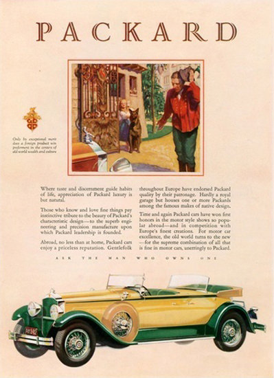 Packard Automobile German Shepherd | Vintage Cars 1891-1970