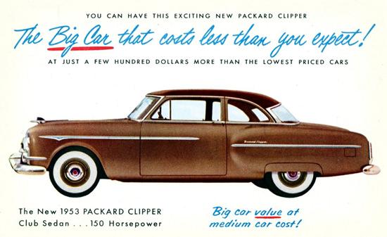 Packard Clipper Club 150 HP 1953 Big Value | Vintage Cars 1891-1970