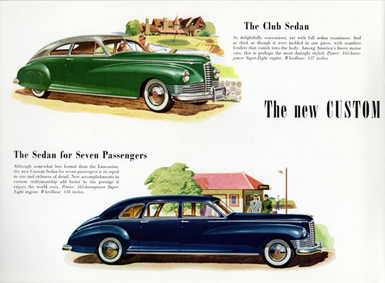 Packard Custom Club N Custom Sedan 1947 | Vintage Cars 1891-1970