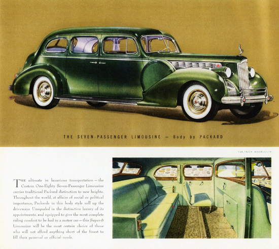 Packard Custom Super 8 One Eighty Limousine 1940 | Vintage Cars 1891-1970