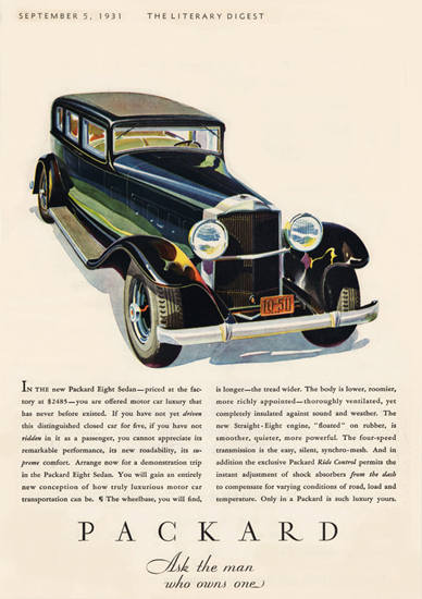 Packard Eight 1931 Ask The Man Who Owns One | Vintage Cars 1891-1970