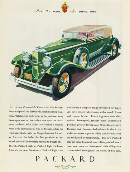 Packard Eight Convertible Victoria 1931 | Vintage Cars 1891-1970