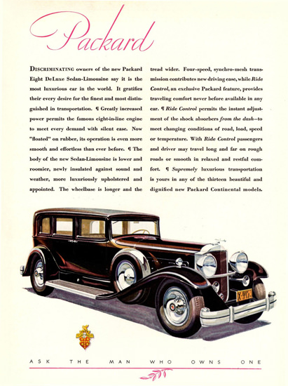 Packard Eight DeLuxe Sedan Limousine 1931 | Vintage Cars 1891-1970