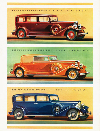 Packard Eight Super Eight And Twelve 1933 | Vintage Cars 1891-1970