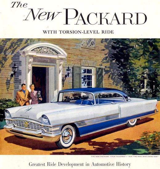 Packard Four Hundred 1955 White Blue Villa | Vintage Cars 1891-1970