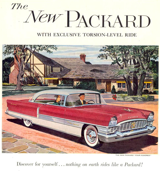 Packard Four Hundred 1955 White Red | Vintage Cars 1891-1970
