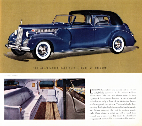 Packard One Eighty Weather Cabriolet Rollson 1940 | Vintage Cars 1891-1970