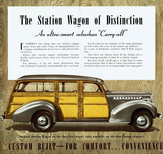 Packard One Ten Station Wagon 1940 | Vintage Cars 1891-1970