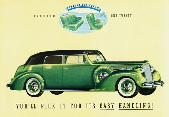 Packard One Twenty Convertible Sedan 1939 | Vintage Cars 1891-1970