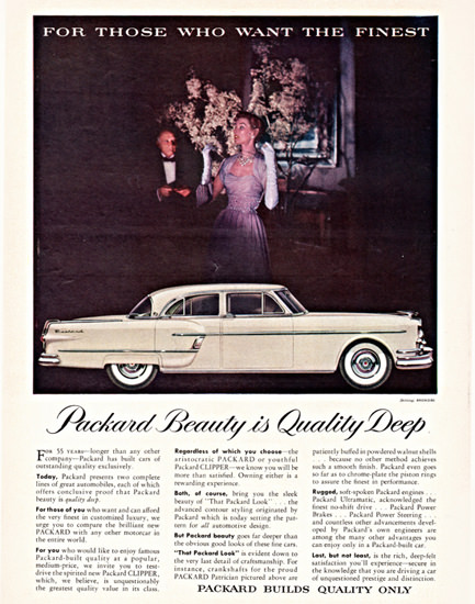 Packard Patrician 1954 Beauty Is Quality Deep | Vintage Cars 1891-1970
