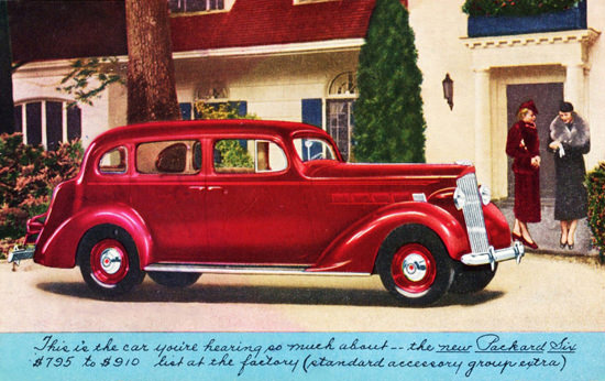 Packard Six Touring Sedan 1937 Red | Vintage Cars 1891-1970