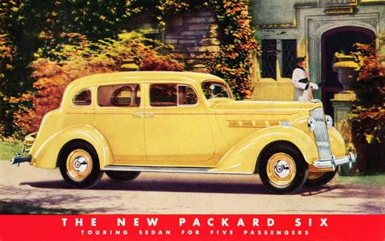 Packard Six Touring Sedan 1937 Yellow | Vintage Cars 1891-1970