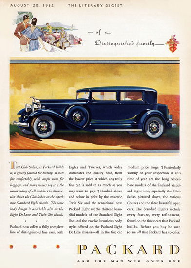 Packard Standard Eight Club Sedan 1932 | Vintage Cars 1891-1970