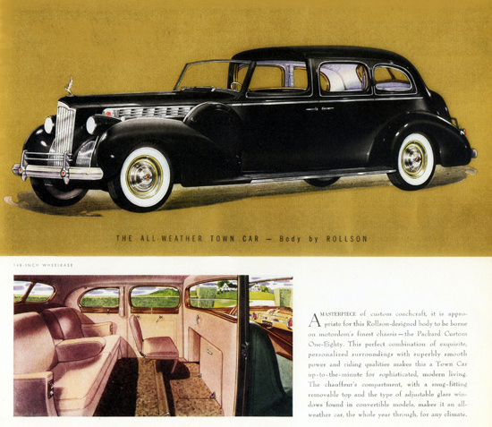 Packard Super 8 All Weather Town Car Rollson 1940 | Vintage Cars 1891-1970