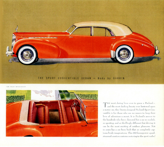 Packard Super 8 One Eighty Convertible Darrin 1940 | Vintage Cars 1891-1970