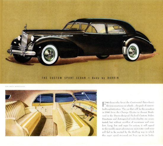Packard Super 8 One Eighty Sport Sedan Darrin 1940 | Vintage Cars 1891-1970