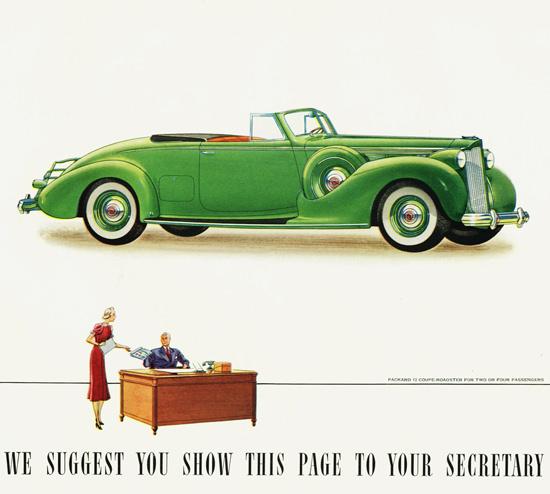 Packard Twelve Coupe Roadster 1938 | Vintage Cars 1891-1970