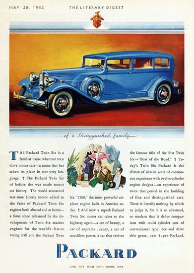 Packard Twin Six Boss Of The Road 1932 | Vintage Cars 1891-1970