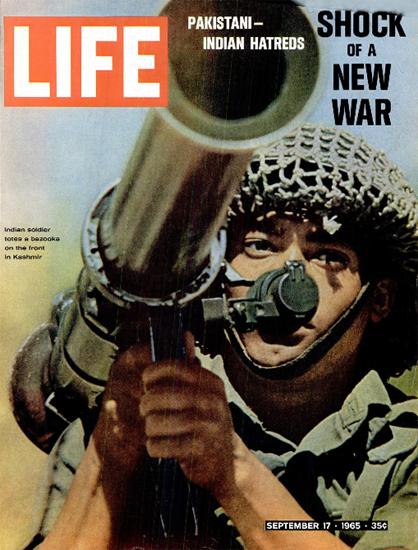 Pakistan-Indian Hatreds Bazooka 17 Sep 1965 Copyright Life Magazine | Life Magazine Color Photo Covers 1937-1970