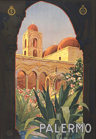Palermo Sicilia Italia Italy | Vintage Travel Posters 1891-1970