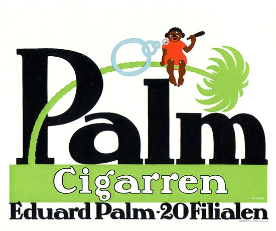 Palm Cigarren Eduard palm 20 Filialen | Vintage Ad and Cover Art 1891-1970