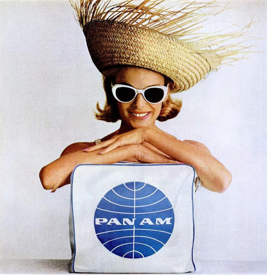 Pan Am Beach Girl 1964   Sex Appeal Vintage Ads and Covers 1891-1970
