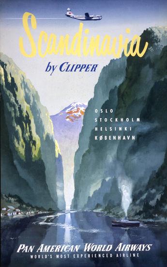 Pan American Airways Scandinavia Clipper 1951 | Vintage Travel Posters 1891-1970