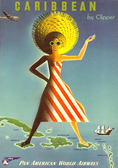 Pan American World Airways Caribbean 1954 | Sex Appeal Vintage Ads and Covers 1891-1970