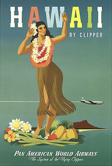Pan American World Airways Hawaii 1948 | Sex Appeal Vintage Ads and Covers 1891-1970