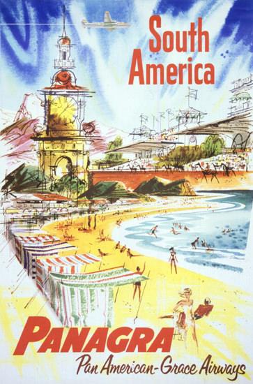 Panagra Pan American Grace Airways 1946 | Vintage Travel Posters 1891-1970