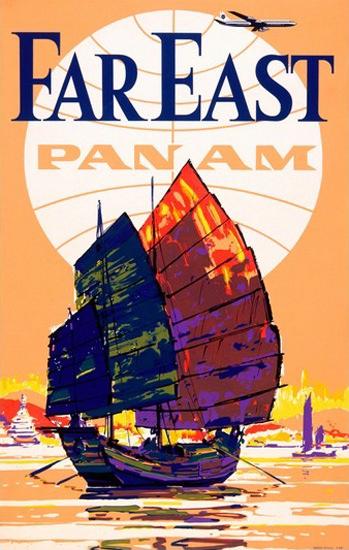 Panam Far East Junk | Vintage Travel Posters 1891-1970
