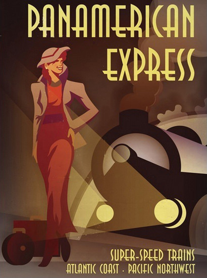Panamerican Express Super-Speed Train Atlantic | Sex Appeal Vintage Ads and Covers 1891-1970