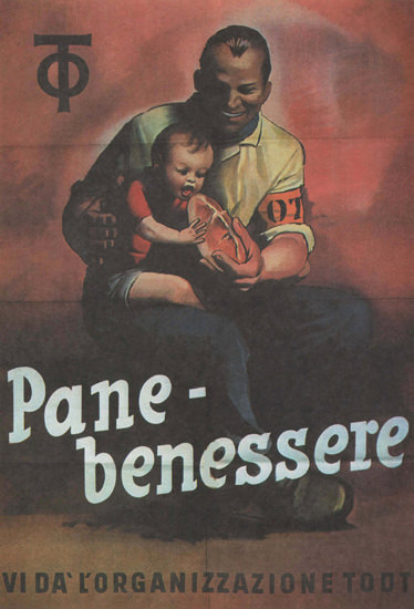 Pane-Benessere OT Italy Italia   Vintage War Propaganda Posters 1891-1970