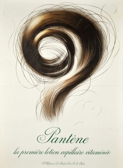 Pantene Lotion Capillaire Switzerland 1945 White | Vintage Ad and Cover Art 1891-1970