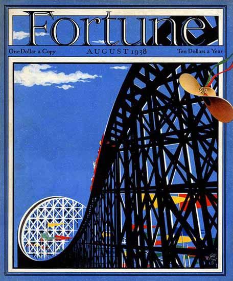 Paolo Garretto Fortune Magazine August 1938 Copyright | Fortune Magazine Graphic Art Covers 1930-1959