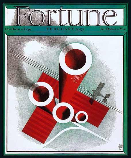 Paolo Garretto Fortune Magazine February 1932 Copyright | Fortune Magazine Graphic Art Covers 1930-1959